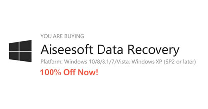Giveaway! 100% FREE to Get Aiseesoft Data Recovery for Windows!