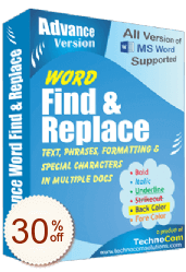 Advance Word Find and Replace Discount Coupon