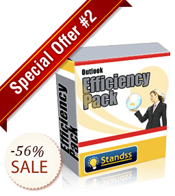 Standss Special Outlook Efficiency Pack Discount Coupon